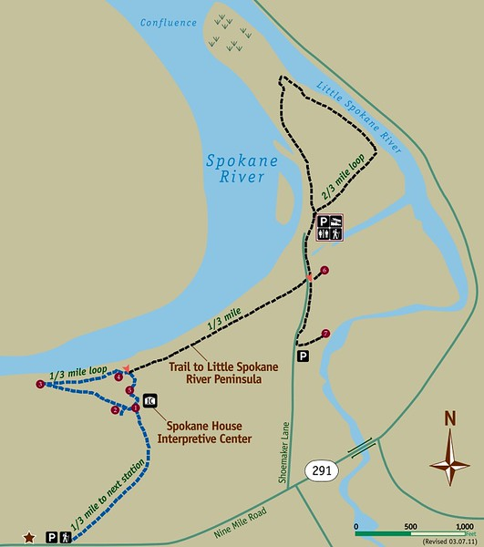 Riverside State Park (Spokane House Area Trail Map)