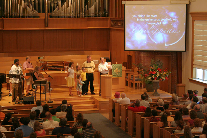 A baptism ceremony, taken 7/2006.