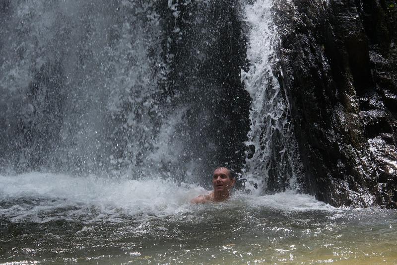 Hugh at Enseluai Waterfall