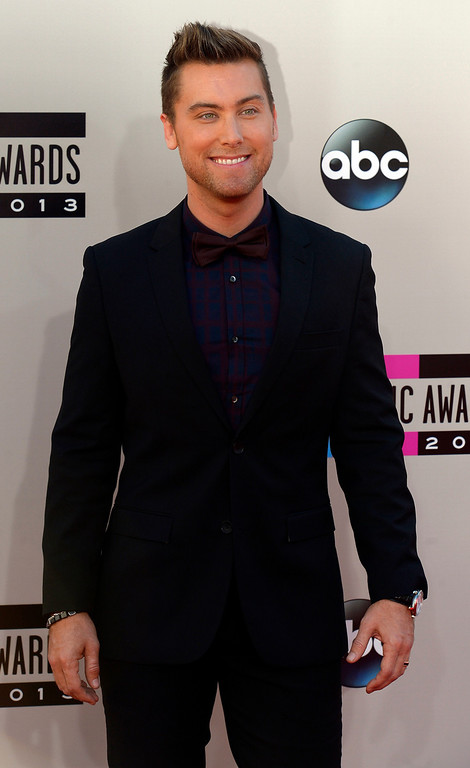 . Lance Bass arrives to the American Music Awards  at the Nokia Theatre in Los Angeles, California on Sunday November 24, 2013 (Photo by Andy Holzman / Los Angeles Daily News)