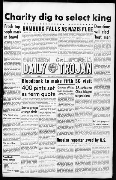 Daily Trojan, Vol. 36, No. 115, May 04, 1945