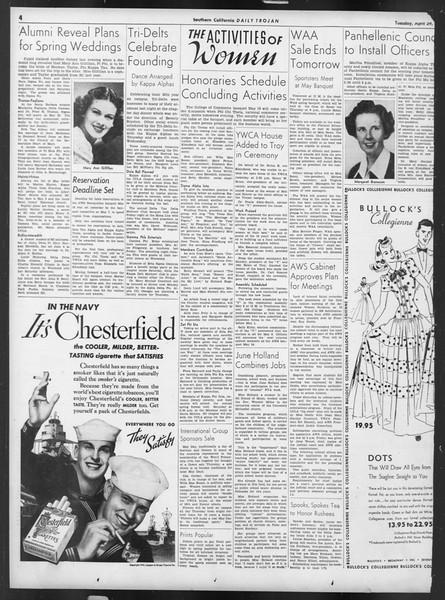 Daily Trojan, Vol. 32, No. 130, April 29, 1941