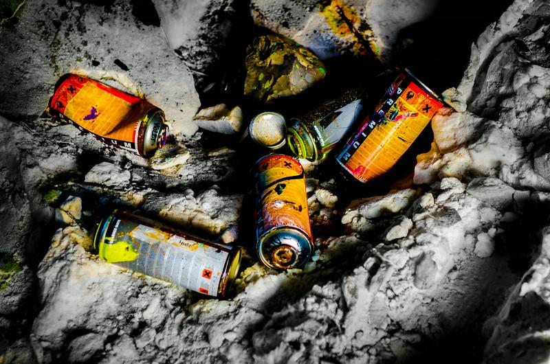 Graffiti spraycans