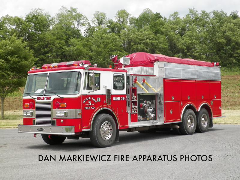 BEALE TWP. FIRE CO. TANKER 53-1 1989 PIERCE TANKER/PUMPER