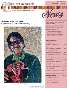 """Fibre Art Network Newsletter Editorial, March 2020, """"Different Points of View"""""""