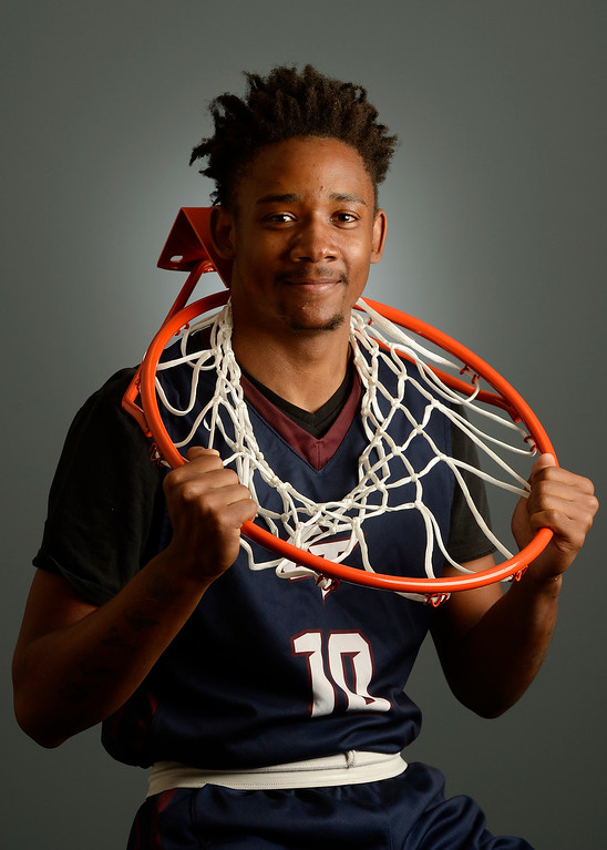 . The  Colorado All-State basketball teams for boys and girls at The Denver Post on Wednesday, March 30, 2016. David Thornton, Cherokee Trail High School senior. (Photo by Cyrus McCrimmon/ The Denver Post)