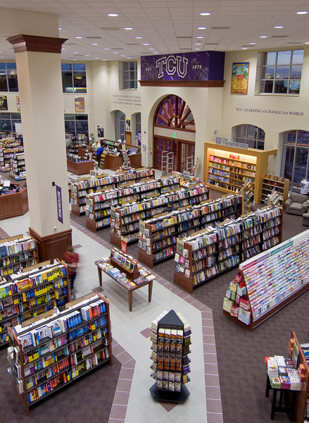TCU Barnes & Noble, Ft. Worth.    Client:  The Beck Group, Dallas.