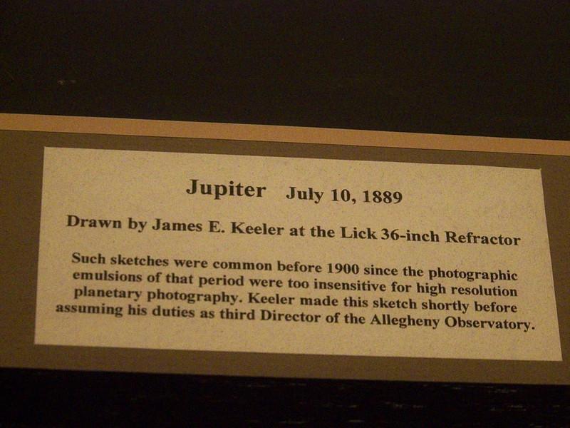 Caption beneath the Jupiter sketch by James Keeler.