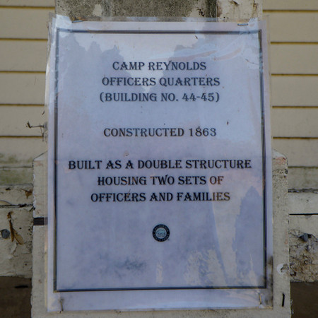 Signage on the Officer's Quarters