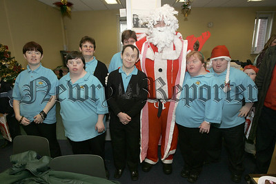 Trainees who attended the Christmas party at NIHE are pictured with santa. 05W51N43