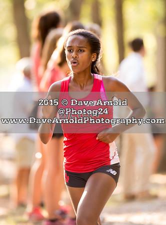 9/17/2015 - Girls Varsity XC - Needham, Brookline, Milton, Dedham