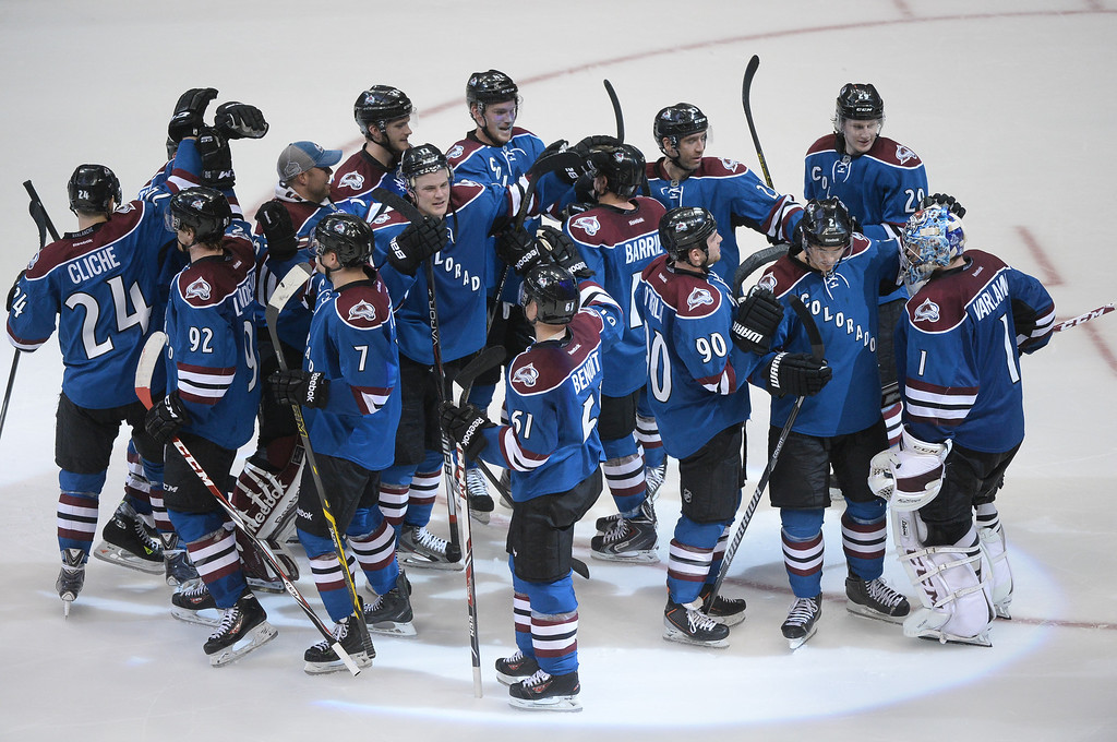 . Semyon Varlamov stopped three attempts in a shootout Thursday night. The Colorado Avalanche defeated the New York Rangers 3-2 Thursday night, April 3, 2014 in a shootout at the Pepsi Center in Denver. (Photo by Karl Gehring/The Denver Post)