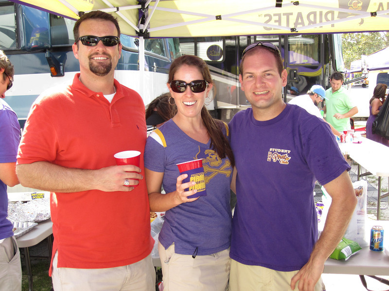 9/10/2011 ECU vs Virginia Tech  Chris Shoup, Beth Shoup, Jon Deutsch