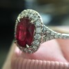 1.52ct Ruby Halo Ring, GIA No Heat 18