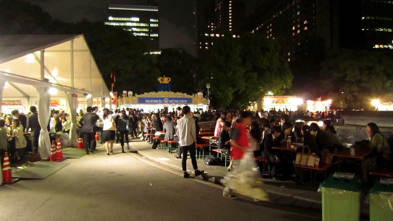 Very popular event in Tokyo.  Beer was priced at $14 for 500ml and $32 for 1 liter