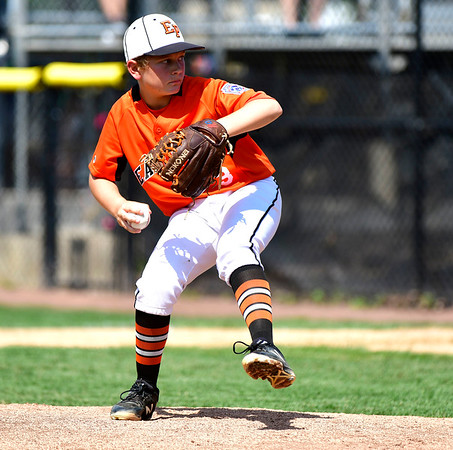 8/4/2019 Mike Orazzi | Staff East Pennsboro Little League's Mason Smith (3) during their opening round game of the Little League Mid-Atlantic regional Baseball Tournament in Bristol.