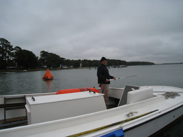 Lee Farinholt with the buoy that got away.