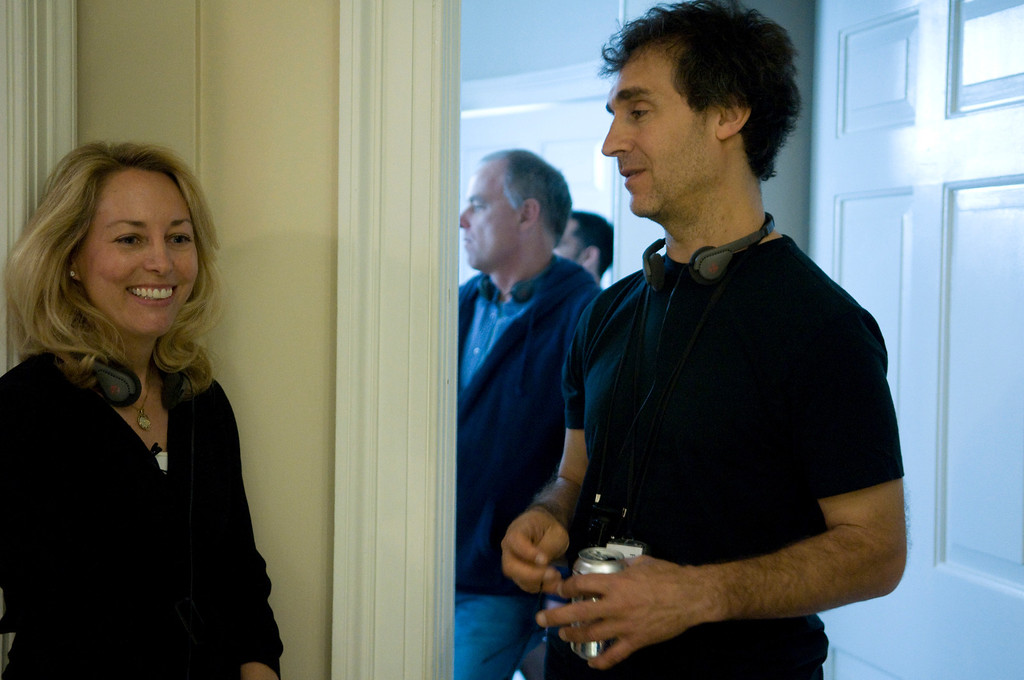 """. In this film publicity image released by Summit Entertainment, Valerie Plame, left, and director Doug Liman are shown on the set of \""""Fair Game.\"""" (AP Photo/Summit Entertainment, Ken Regan)"""