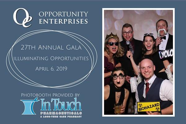 Opportunity Enterprises 27th Annaul Gala Mirror Booth at Blue Chip Casino
