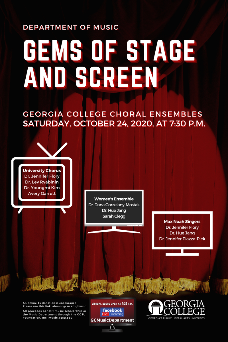 Please join us Saturday, Oct. 24, 7:30 pm for our virtual Choral Ensembles Concert!