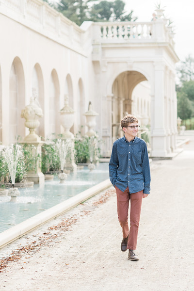 Jacob's Senior Photos at Longwood Gardens