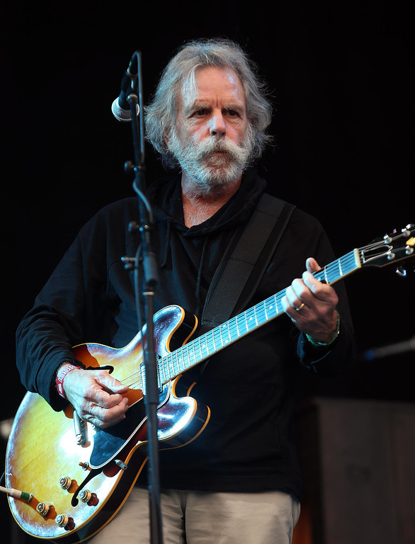 . Bob Weir, formerly of the Grateful Dead, sits in with The National on the Land\'s End stage during the 6th annual Outside Lands Music and Arts Festival in Golden Gate Park in San Francisco, Calif., on Friday, Aug. 9, 2013.  (Jane Tyska/Bay Area News Group)