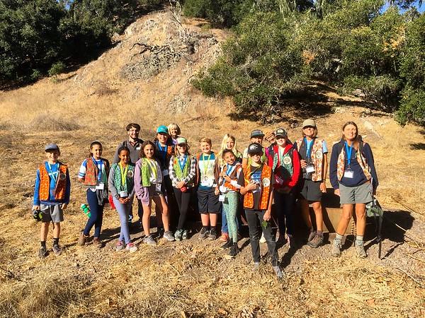 Ocean View School Oak Ambassadors at Pismo Preserve ~ Fall 2018