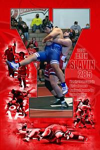 2021 Jarek Slavin Wrestling Print