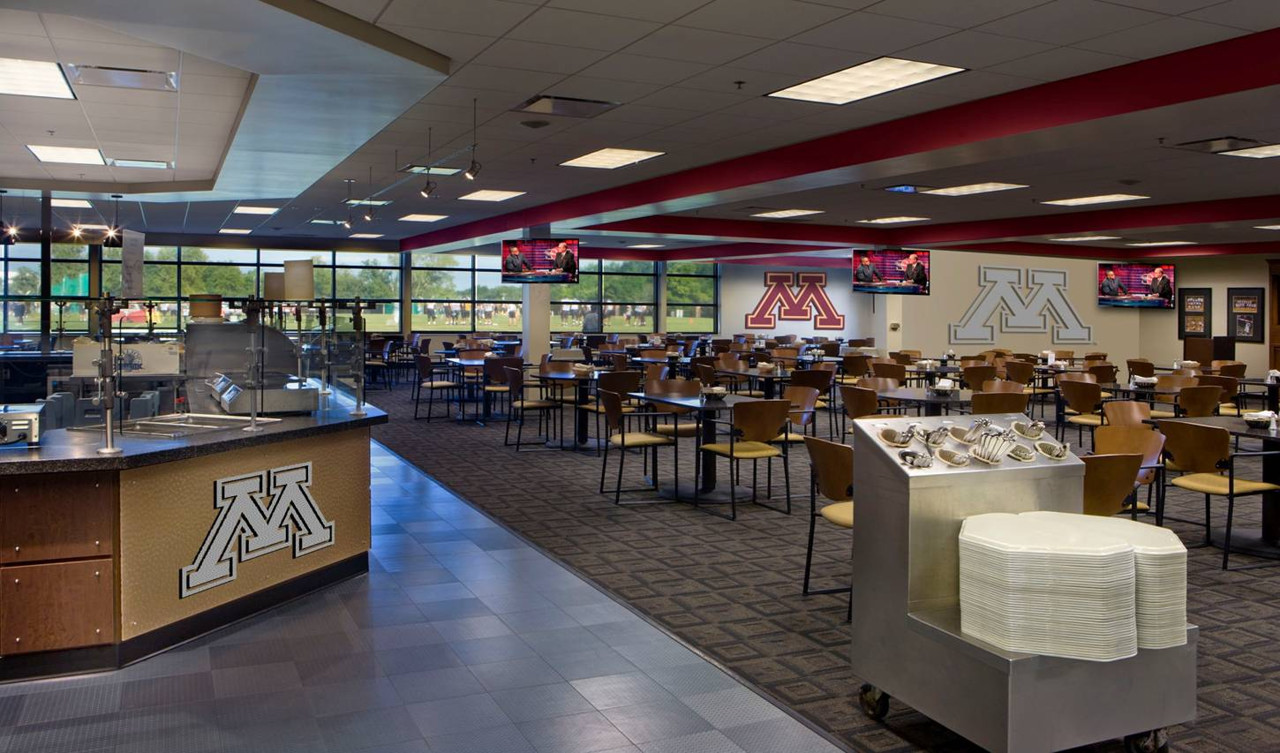 . Part of the new facilities plan unveiled by the university Wednesday includes a new training table/nutrition center. (Rendering courtesy of the University of Minnesota)
