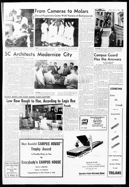 Daily Trojan, Vol. 48, No. 36, November 09, 1956