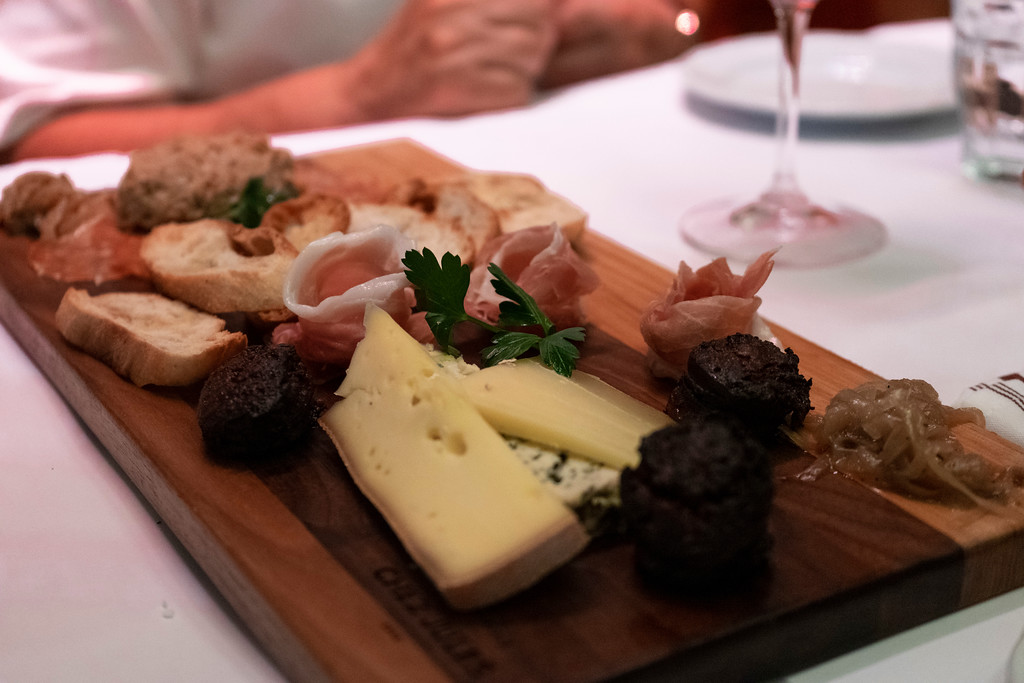 Charcuterie and cheese board from Chez Jules in Old Quebec City