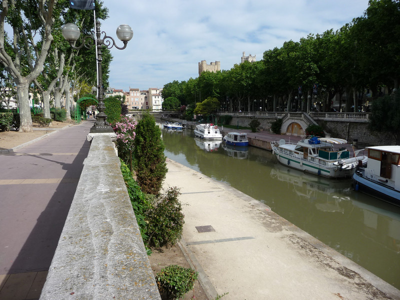 The main square in the city is built around a canal. Location - Narbonne