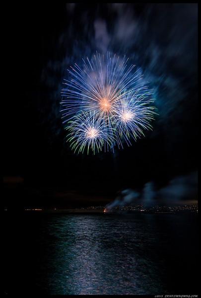 Sunset Cliffs-SW Fireworks  11JUL15
