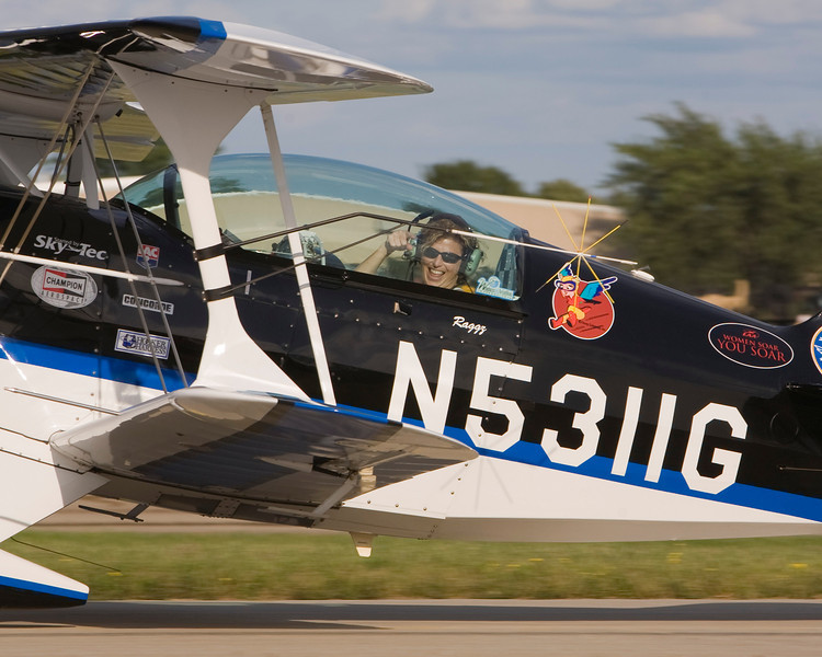 "Jill ""Raggz"" Long at EAA AirVenture 2009."