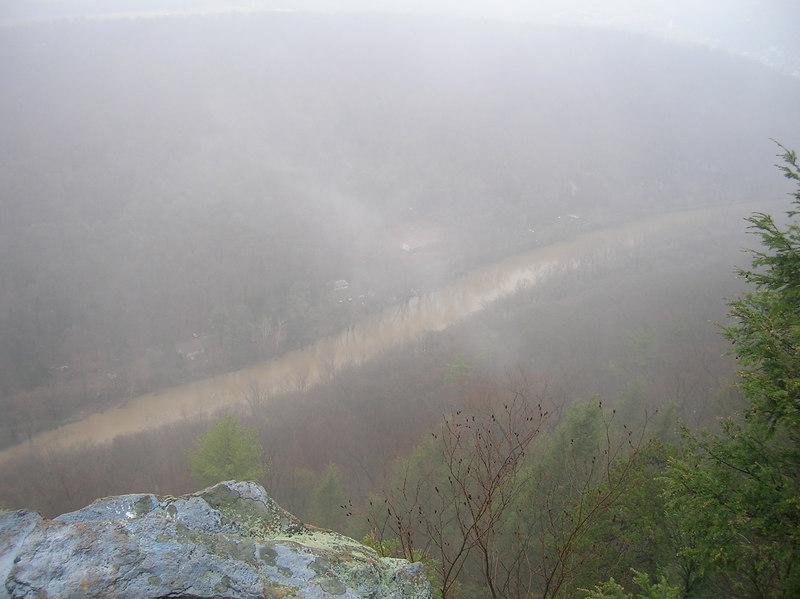 Another vertigo-inducing view of Shermans Creek