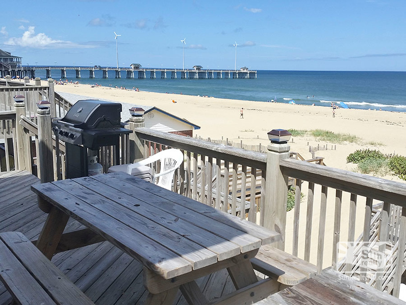 Rear Deck with Ocean and Pier Views