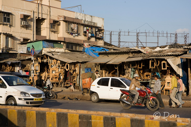 some shacks where they sell stuff and people live