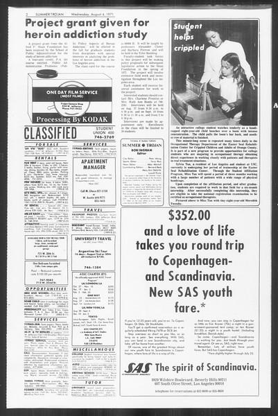 Summer Trojan, Vol. 63, No. 13, August 04, 1971
