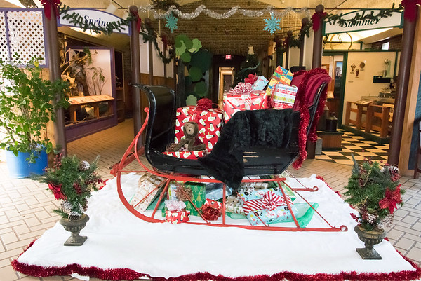 11/28/18 Wesley Bunnell   Staff Rooms are in the middle of being redesigned at the New Britain Youth Museum at Hungerford Park under the direction of new Executive Director Tom Pascocello featuring STEM themes combined with a natural background. A seasonal winter sleigh with gifts sits in the main hallway where a tractor used to be exhibited.