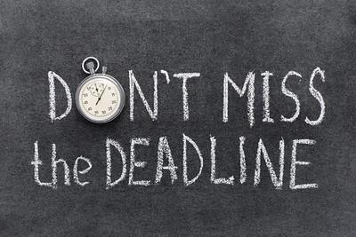 2019/10/04 Class of 2020: Yearbook Deadlines