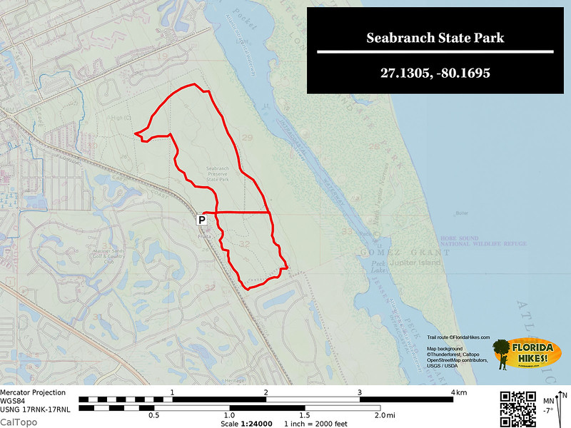 Seabranch Trail Map