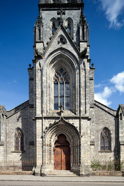Saint Matthiew church, town of Quimper, departament of Finistere, region of Brittany, France