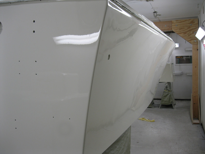 Rear starboard view of sides painted.