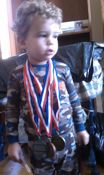 Ty is a highly decorated toddler