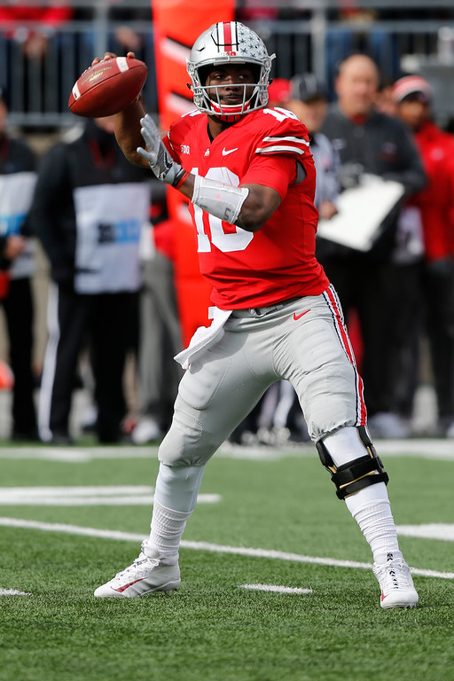 . J.T. Barret, Ohio State: J.T. Barrett helped bring Ohio State a national championship but has heard hysterical fans demanding he be benched. He has broken nearly every school passing and scoring record but isn�t considered a top NFL prospect. The quarterback who plays his final regular-season game on Saturday against Michigan is more driven than naturally talented, more analytical than emotional, more pragmatic than go-for-broke. He has struggled with accuracy and his arm strength is mediocre. But he�s undeniably a winner.  (Associated Press file)