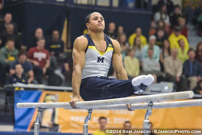 2-8-14 Michigan Men's Gymnastics Vs Nebraska