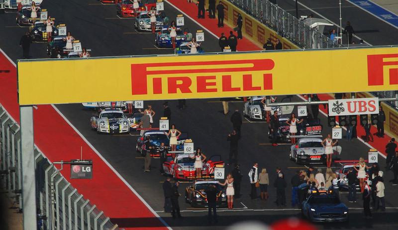 Closeup of GT3 grid.