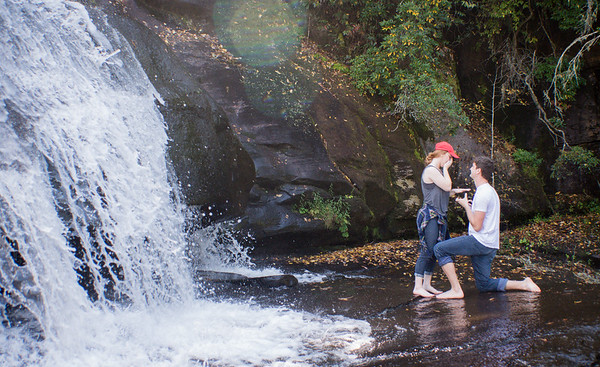 Dupont Waterfall Engagement