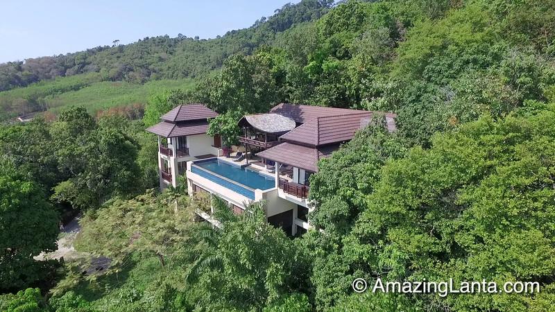 Villa Serene Aerial View