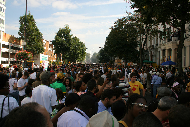 Notting hill Carnival parade - ladbroke grove